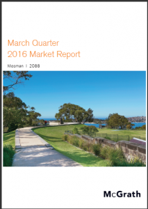 Mosman Property Market Performance Quarterly Report - March 2016 Ashton Rowe