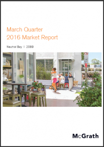 Neutral Bay Property Market Performance Quarterly Report - March 2016 Ashton Rowe