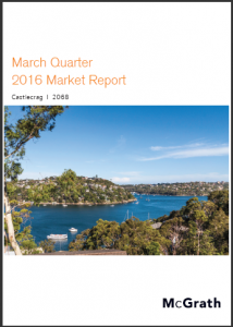 Castlecrag Property Market Performance Quarterly Report - March 2016 Ashton Rowe