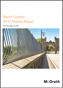 Northbridge Property Market Performance Quarterly Report - March 2016 Ashton Rowe