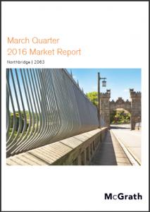 Northbridge Property Market Performance Quarterly Report - March 2016 Ashton Rowe